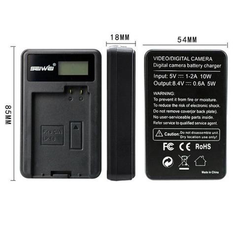 Carregador + 2 Baterias En-el14 Nikon D5300 (seiwei)