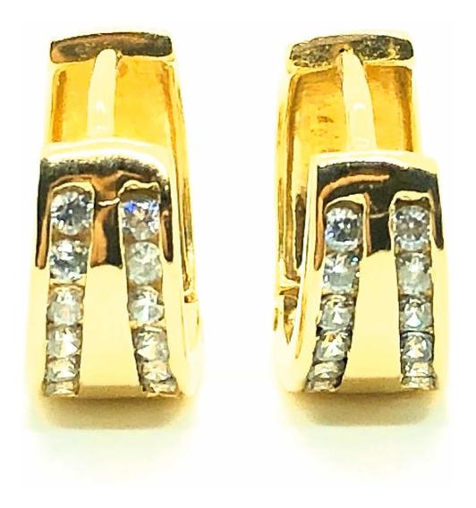 Aros De Oro 18kt Con Cristales Swarovski