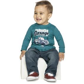 Camiseta Bebê Menino Dad`s Elian 01 A 03 Anos