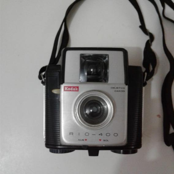 Câmera Fotográfica Kodak Rio 400 Anos 60 Ótima (enviando!)