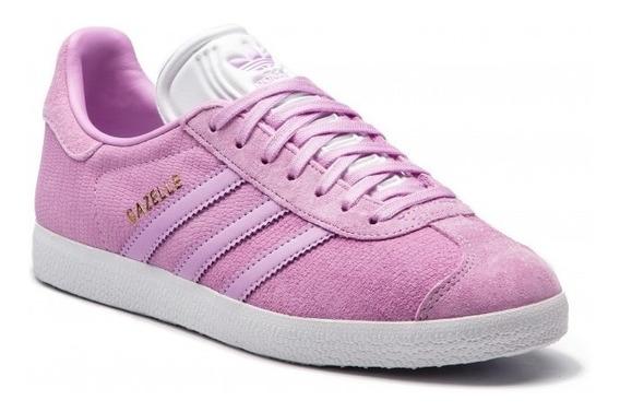 Tenis adidas Gazelle W B41663 Lila Talla 24cm(amplios)