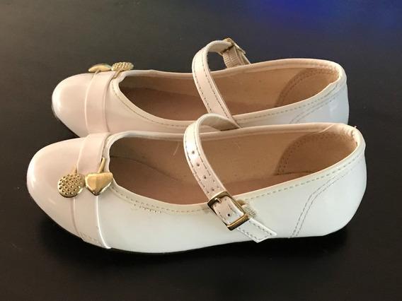 Zapatos Charol Nena Fiesta Vestido Blanco Dorado Sandalia Lv