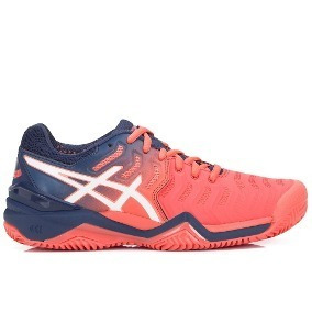 Tênis Asics Gel Resolution 7 Clay - Papaya/white