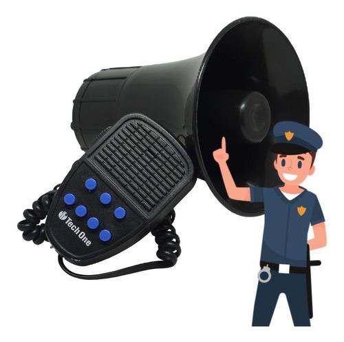 Imagem 1 de 7 de Sirene Policia Tipo Rontan Megafone 7 Tons Carro Moto Alarme