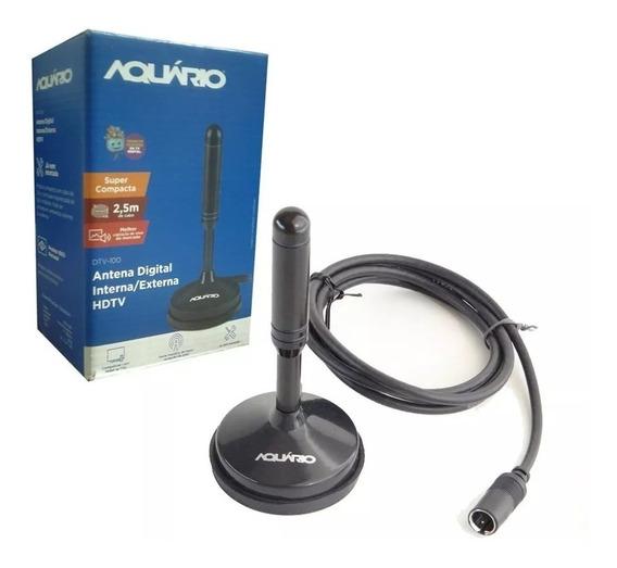 Aquario Dtv-100 Antena Digital Interna Hdtv Cabo Com Conecto