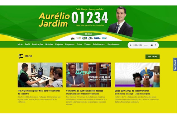 Site Administrável Para Políticos Responsivo
