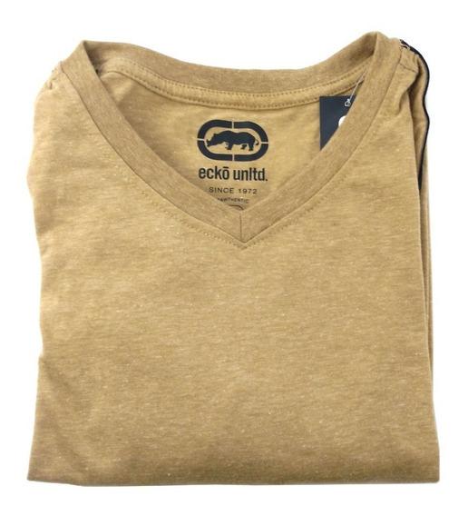 Camisa Masculina Eckõ Unltd. Original Cor Cáqui