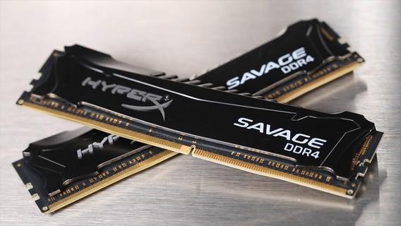 2 Memória Ram Hyperx® Savage Ddr4 De 4 Gb 2666 Cl13 Rara