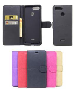 Capa Capinha Carteira Xiaomi Redmi 6 Flip Case + Pel Vidro