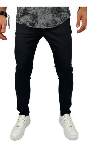Calça Jeans Masculina Lycra Skinny Preta Pronta Entrega
