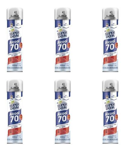 Imagem 1 de 1 de Domline Super Dom Alcool Aero 70% 300ml (kit C/06)