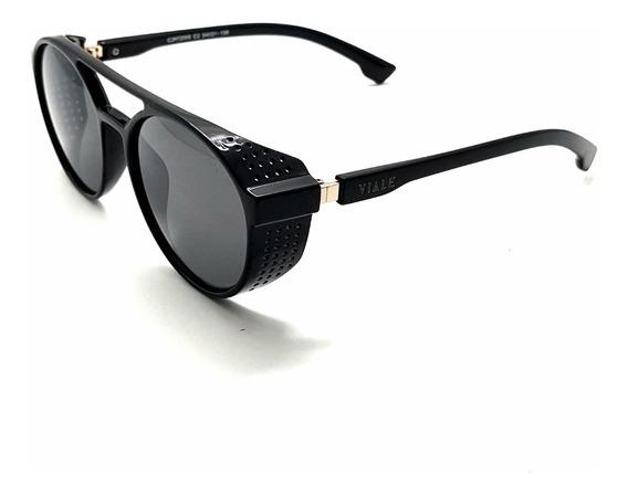 Óculos Viale Original Retrô Steampunk Alok Uv400 Blackfriday