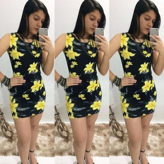 Vestido De Festa Feminino Curto Estampado Floral -barato