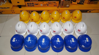Casco De Seguridad Color Amarillo , Blanco , Azul Marca 3h