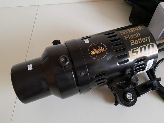 Flash A Bateria Atek Shine 500