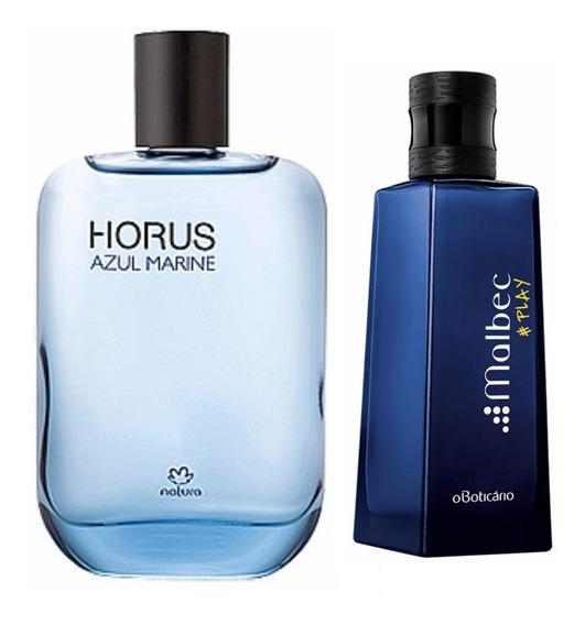 Perfume Malbec Play Boticário + Perfume Horus Marine Natura