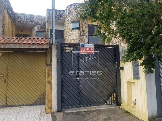 Sobrado Com 3 Dormitórios Para Alugar Por R$ 1.800/mês - Chácara Belenzinho - São Paulo/sp - So0880