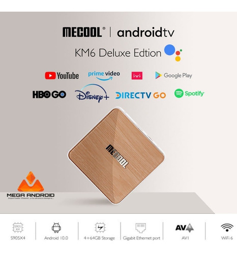 Tv Box Mecool Km6 4gb/64gb Android Tv 10 Gama Premium 2021