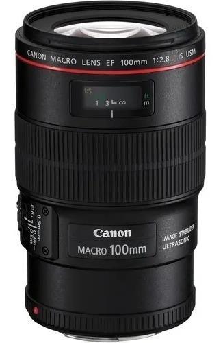Canon Macro 100mm 2.8 L Is Lacrado + Nota