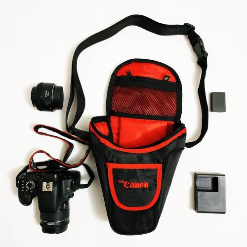 Estuche Camara Canon T7 T6i, Sl2, Sl3, T7i, 77d, 80d, 7d