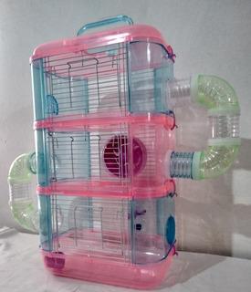 Hamstera Acrilica 3 Pisos