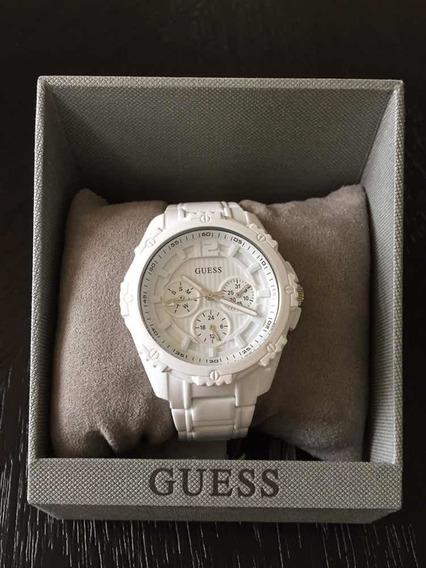 Relógio Guess Branco U0232l6 Esportivo Original