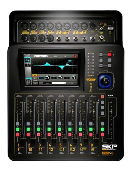 Mesa De Som Digital Skp D-touch 20 - 20 Canais Usb Bivolt