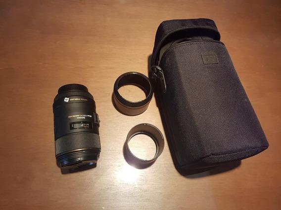 Lente Canon Macro Hsm Sigma 105 Mm F2.8 Ex Dg Os