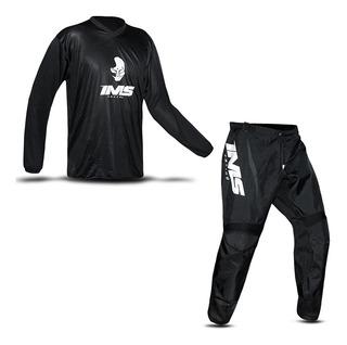Calça E Camisa Roupa Conjunto Trilha Motocross Ims Preto