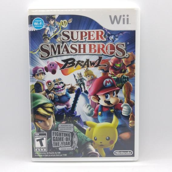Super Smash Bros Brawl Nintendo Wii Midia Fisica Jogo Game