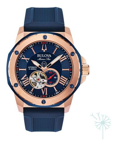 Imagen 1 de 5 de 98a227 Reloj Bulova Marine Star Para Caballero