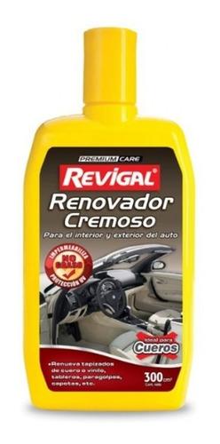 Imagen 1 de 4 de Crema Renovadora Cremosa Plasticos Cuero Auto Coche Revigal