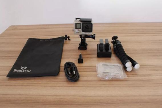 Câmera Go Pro Hero 4 4k 12mp + Kit Com Acessórios Semi Nova.