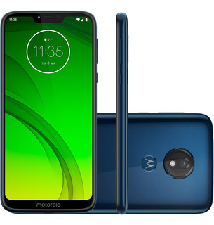 Celular Moto G Power 7, Modelo Azul, 32gb De Memória.
