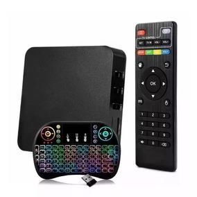 Smart Tv Box 4k 2gb/16gb Android Wifi+teclado Eluminado Led