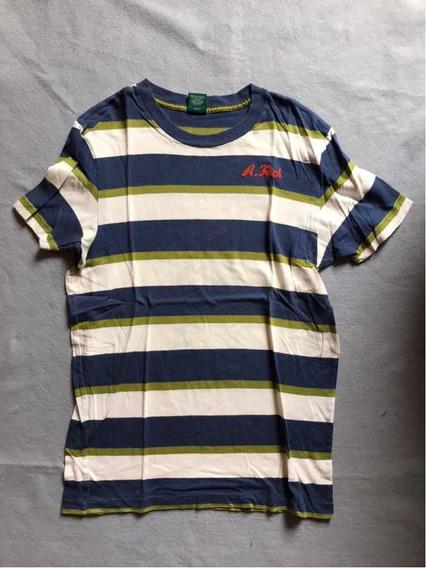 Playera Abercrombie Original De Rayas Azul