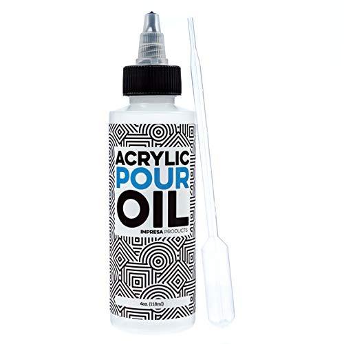 Acrílico Aceite Vertido - 100% De Silicona - Lubricante De
