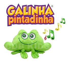 Pelúcia Sapo Musical - Turma Galinha Pintadinha