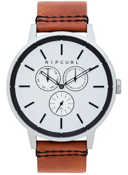 Relógio Rip Curl Masculino Detroit Multieye Leather A3115 54