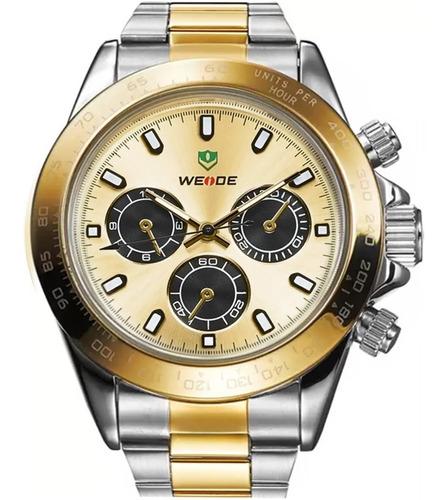 Relógio Masculino Weide Bicolor Wh3309g-1c