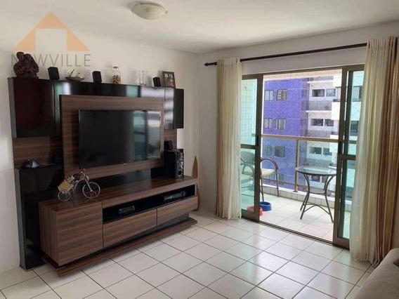 Apartamento Com 4 Quartos Para Alugar, 130 M² Por R$ 3.000/mês - Boa Viagem - Recife/pe - Ap2218