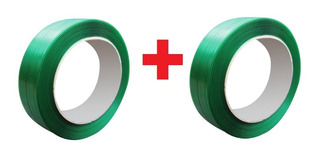 2 Rolos Fita Arquear Fita Poliéster Pet Verde 16mm