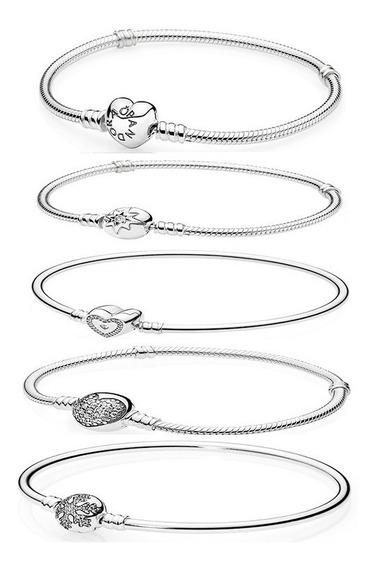 Pulseira Bracelete Prata 925 Coracao Sky