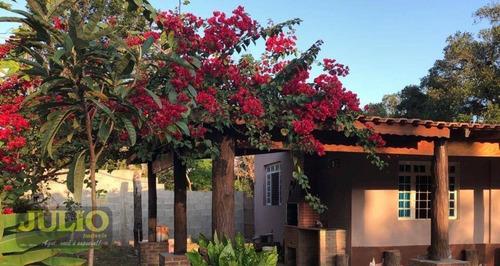 Chácara Com 3 Dormitórios, 1750 M² Por R$ 220.000 - Jardim Leonor - Mongaguá/sp - Ch0013