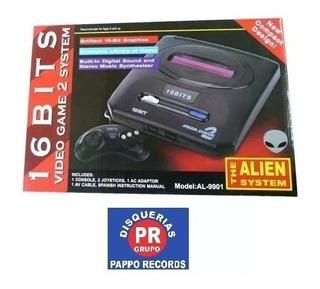 Family Consola Aliens 16 Bits Sega Rojo Incluye Juegos