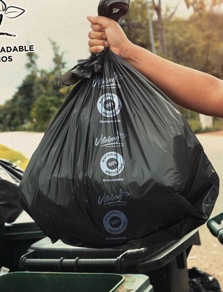 3kg Bolsa Ecológica Compostable Basura Negra 120 X 90 Cm Bio
