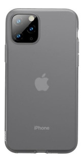 Capa Protetora iPhone 11 Pro Baseus Jelly - Matte Fumê