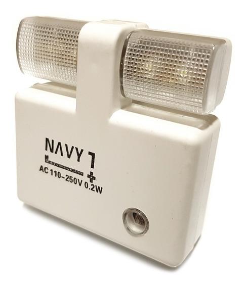 Luz Noturna Tomada Mini Luminária Dupla Em Led Sensor Abajur