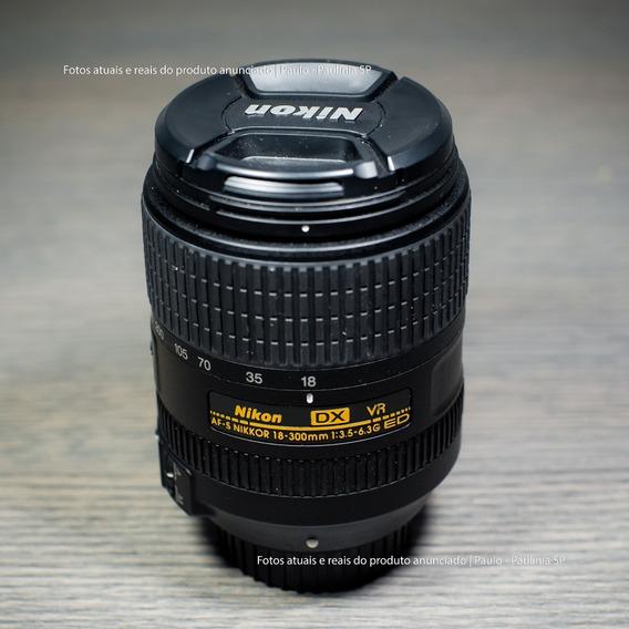 Lente Nikon Af-s Dx Nikkor 18-300mm F/3.5-6.3g Ed Vr (usada)