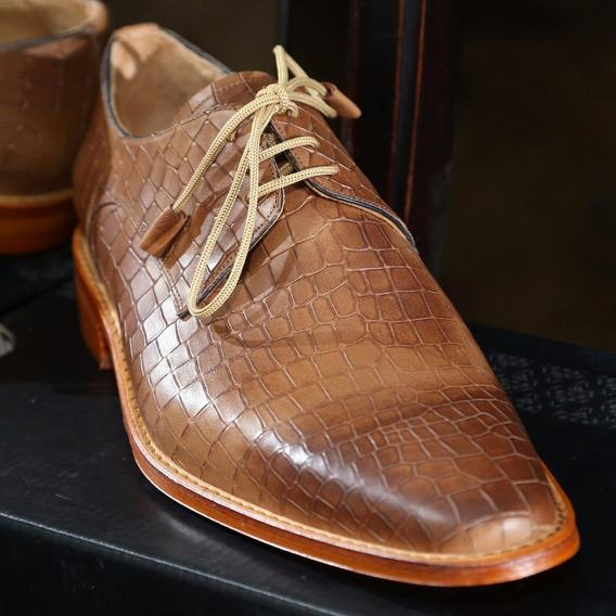 Zapato Vestir Hombre Color Suela - Mws Shoes Rami 300 Marrón